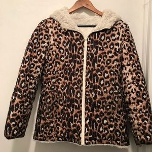 Justice Reversible Puffer Winter Coat size 12/14